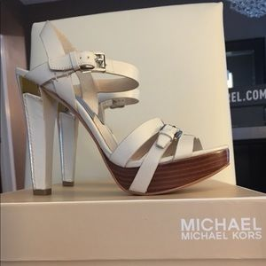 Michael Kors Grace Platforms in Vanilla